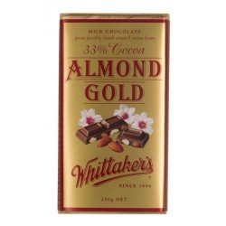 Whittakers Milk Almond Gold...